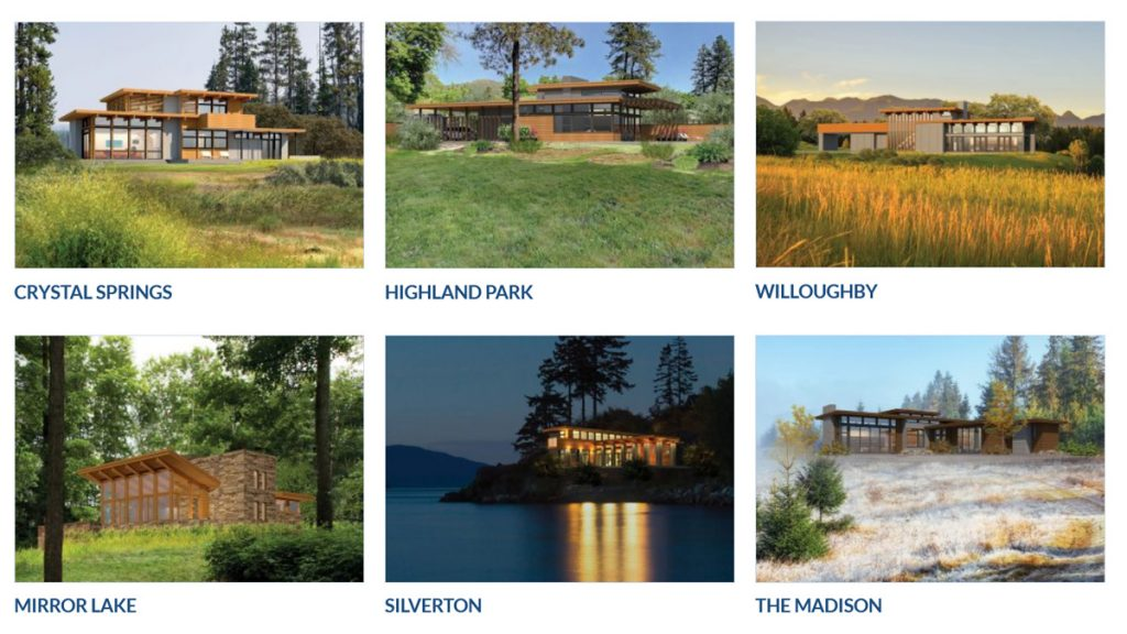 lindal homes imagine series inspired by Frank Lloyd Wright